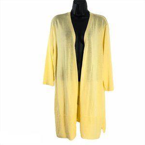 Chico's Open Light Cardigan Sweater Yellow 2XL